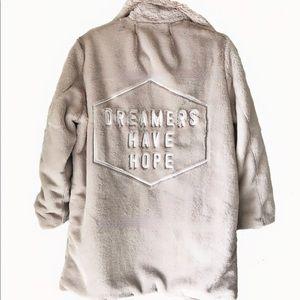 Honorable Citizens Dreamers festival faux fur coat
